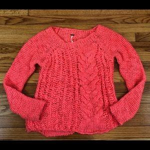 Free People Pink Knit Sweater